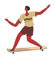 skater on board transportation in city or town vector image
