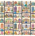 Small town and buildings vector image