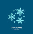 snowflakes christmas decoration flat line icon vector image