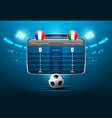 soccer score board vector image vector image