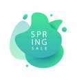 spring sale banner template design vector image