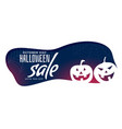 stylish halloween sale banner with spooky pumpkins vector image