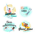 summer time and sea adventure good time vector image vector image