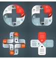 templates set for your medical project vector image vector image