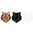 Tiger head triangular icon geometric trendy vector image vector image