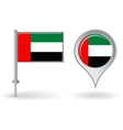 United Arab Emirates pin icon and map pointer flag vector image vector image