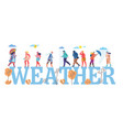 weather concept flat style design vector image