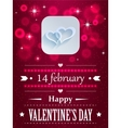 Design with hearts and flares for valentines day vector image