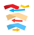Paper Labels and Arrows vector image