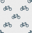bike icon sign Seamless pattern with geometric vector image