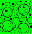 geometric green background circles vector image
