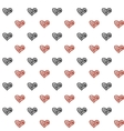 Hand drawn doodle hearts Seamless pattern vector image