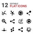 12 share icons vector image vector image