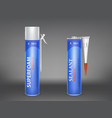 3d realistic metallic bottle with vector image vector image