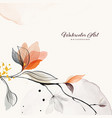 abstract background watercolor orange flower
