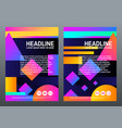 abstract creative templates covers with geometric vector image vector image
