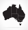 accurate australia map with states separated