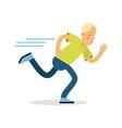 active boy teenager running cartoon character vector image