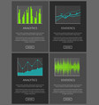 analytics and statistics data chart representation vector image vector image