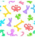 animal balloon background pattern on a white vector image