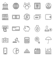 Banking line icons on white background