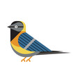 blue tit bird icon in flat style vector image vector image
