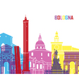 Bologna skyline pop vector image vector image