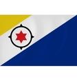 Bonaire waving flag vector image vector image