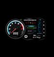 car dash board eps 10 006 vector image
