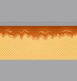 caramel melted on wafer background transparent vector image vector image