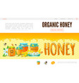 cartoon beekeeping web page template vector image vector image