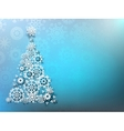 Christmas Background with paper snowflakes EPS 10 vector image vector image