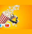cinema and movie poster design vector image vector image