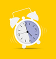 clock icon in trendy flat style alarm clock wake vector image