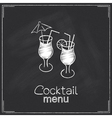 Cocktail menu design vector image vector image