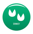 donkey step icon green vector image