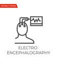 electroencephalography icon vector image vector image