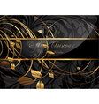 Elegant Christmas Background with Text Space vector image