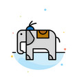 elephant animal abstract flat color icon template vector image