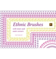 Ethnic Mexican Brushes set vector image vector image