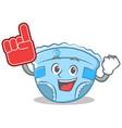 foam finger baby diaper character cartoon vector image vector image
