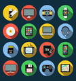 gadget flat icons computer laptop tablet flash vector image vector image