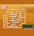 game pig maze find their way to the mud vector image
