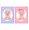 girl and boy kids collection vector image