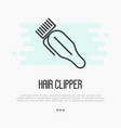 hair clipper thin line icon vector image vector image