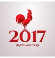 Happy New Year with red vector image vector image