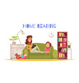 home reading background vector image vector image