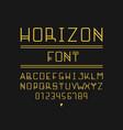 horizon font alphabet vector image