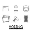 Hosting design vector image