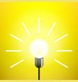 idea lamp light bulb yellow background vector image vector image